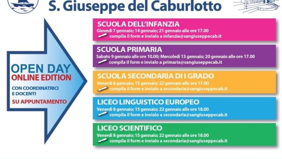 Open-Day-Gennaio-2021-san-giuseppe-caburlotto-roma-volantino