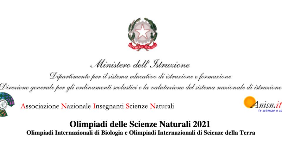 Olimpiadi Scienze Naturali 2021