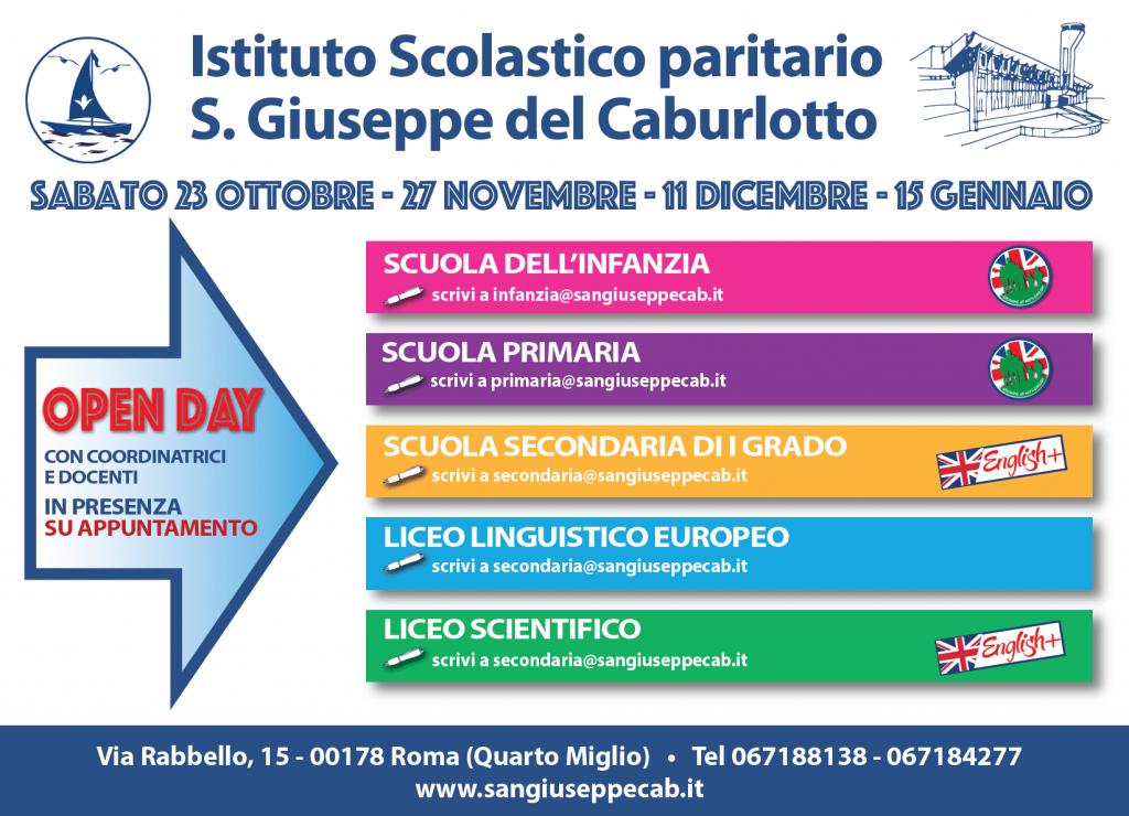 Open-day-San-Giuseppe Caburlotto 2021-2022